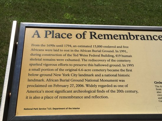 African Burial Ground National Monument: information of african burial ground
