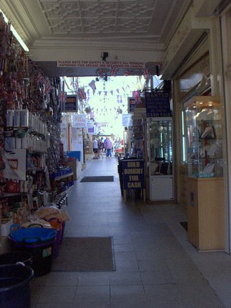 Otley, UK: Internal view of Kirkgate Arcade