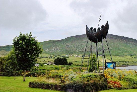 Cahersiveen, Ireland: Skellig Monks Sculpture, Caherciveen, Ring of Kerry, Ireland, July 2016