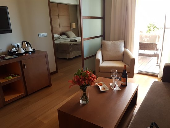 Protur Biomar Gran Hotel & Spa: Una habitación con salita. Todo muy cálido y cómodo. Camas anchísimas y muy confortables.