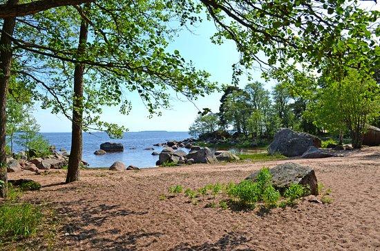Kotka, Finlande : берег Финского