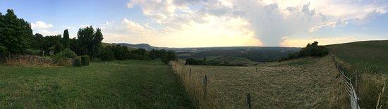 Compeyre, Frankrike: panoramique depuis la ferme auberge