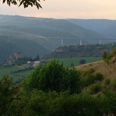Compeyre, Frankrike: vue depuis la ferme