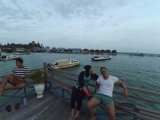 Derawan Islands, Endonezya: sore hari di lestari resort
