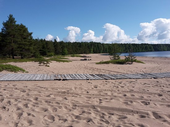 Kajaani, Finnland: The awesome beach of Ärjä island