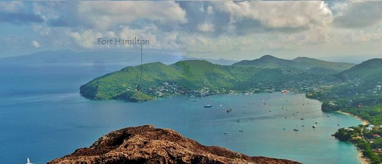 Port Elizabeth, Bequia: Looking over to the Fort from Mt. Peggy
