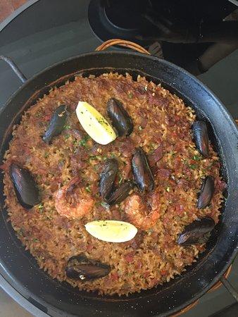 Corca, Hiszpania: El ñoquis, el bacalao y el arroz, muy buenos!