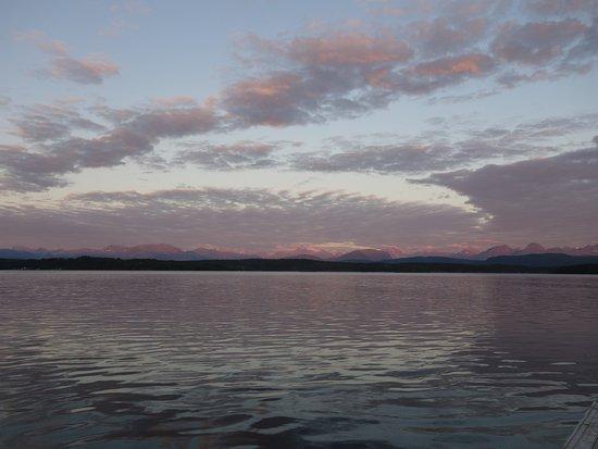 Molde, Noruega: UItzicht vanaf onze kampeerplek!
