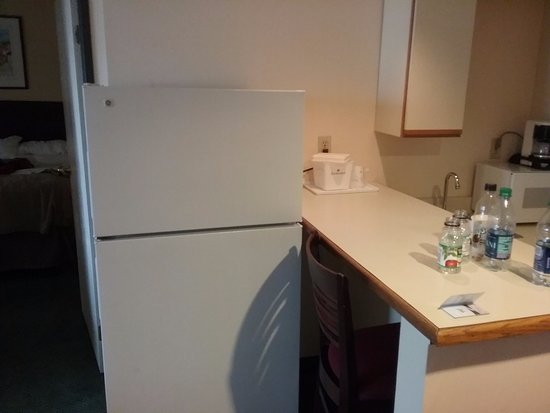 Englewood, CO: Randomly abandoned second fridge blocking the breakfast bar.