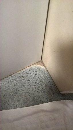 Saint-Martin-Boulogne, Frankrig: Le sol au pied du bac de douche de la chambre 65