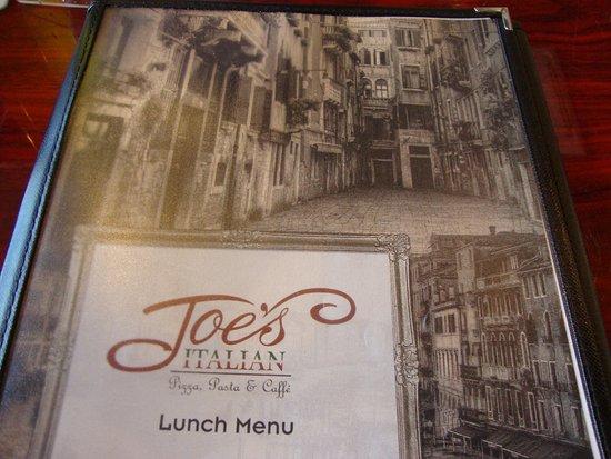 Alabaster, AL: Joe's Italian Lunch Menu