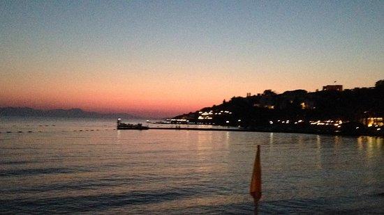 Kadikale, Turquía: Coucher du soleil depuis la salle