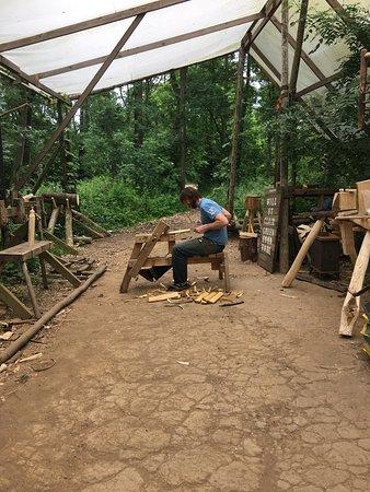 Bromyard, UK: Wood Carving Workshop at Brook House Woods