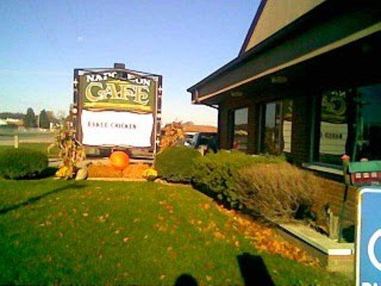 Jackson, MI: Front Sign of Napoleon Cafe