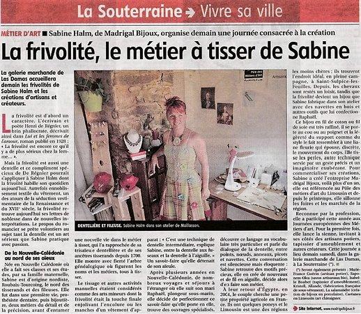 Article journal la montagne photo de madrigal bijoux for La montagne journal brive