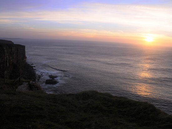Thurso, UK: Dunnet Head in the sunset