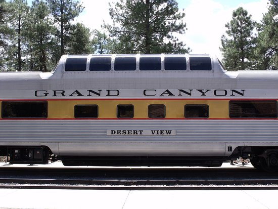 Grand Canyon Railway: Our Carriage with the Observation Dome