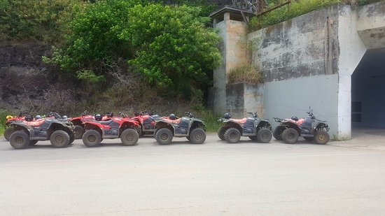 Kaneohe, HI: ATVs at WWII bunker