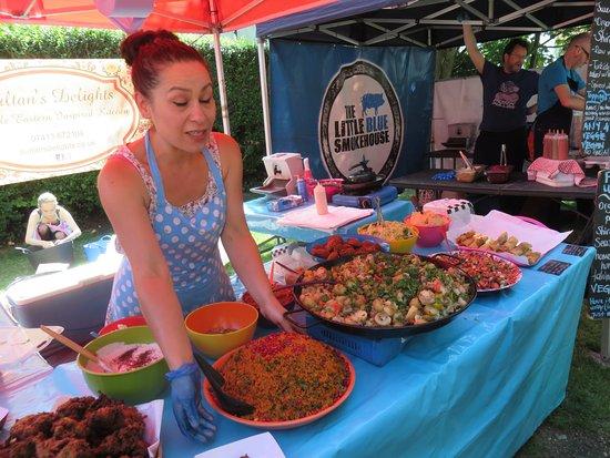 Brighton and Hove, UK : Turkish food--that looked like edible art