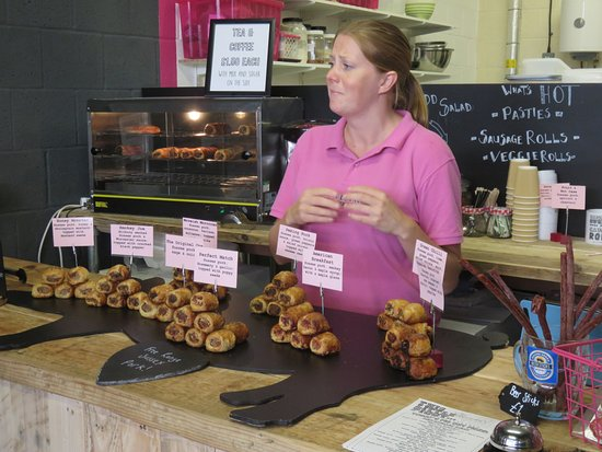 Brighton and Hove, UK: Sausage rolls in the open air market