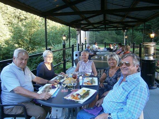La vieille forge stoumont restaurant avis num ro de for Restaurant exterieur