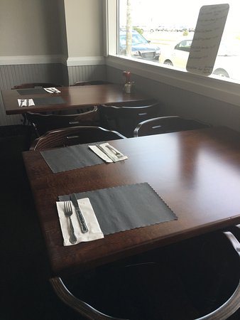 Hull, MA : All new tables and chairs in the dining room.