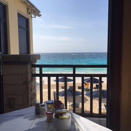 view from breakfast