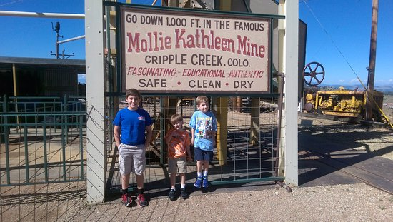 Mollie Kathleen Gold Mine: At the top of the elevator shaft