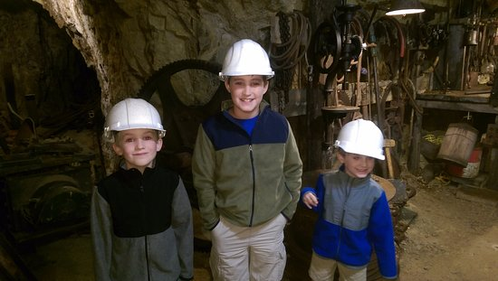 Mollie Kathleen Gold Mine: 1,000 down in the blacksmith's shop