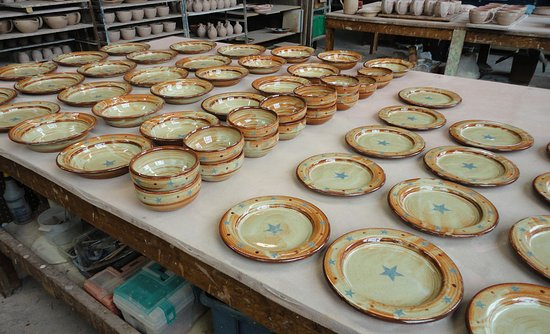 Luling Icehouse Pottery Texas Star Dinnerware. : texas star dinnerware - pezcame.com