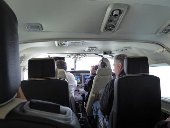 Broadford, UK: Inside the sea plane.