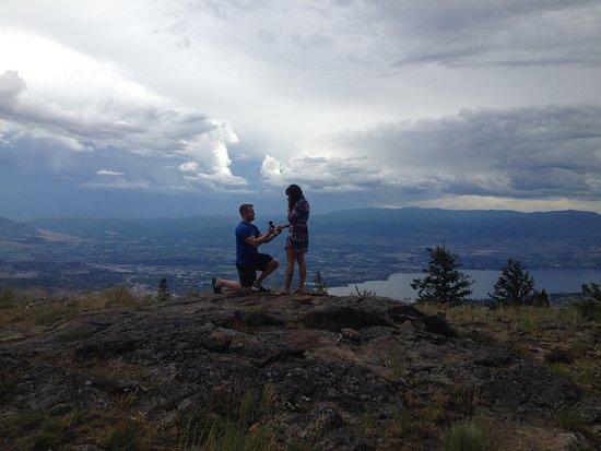 West Kelowna, Canada: Mountain top proposal