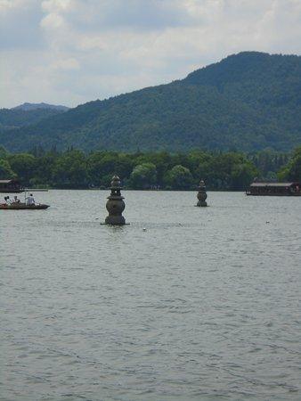 West Lake (Xi Hu): Three pools mirroring the sun
