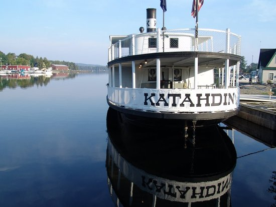 """Greenville, ME: The """"Kate"""" at dockside"""