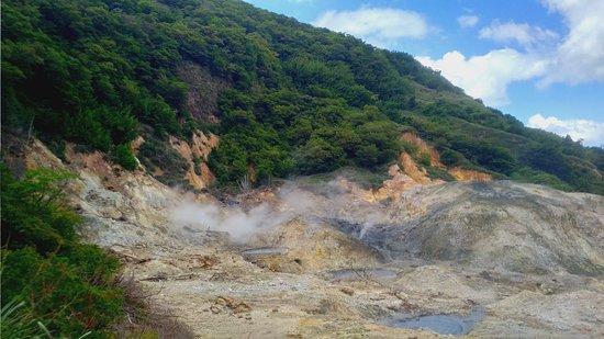 Vieux Fort, Saint Lucia: Sulfur at Volcanos