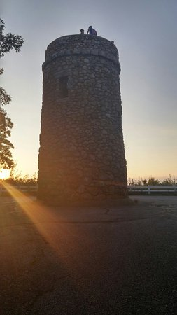 Scargo Tower at sunset