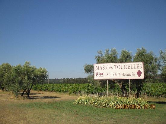 L'entrée du domaine du Mas des Tourelles