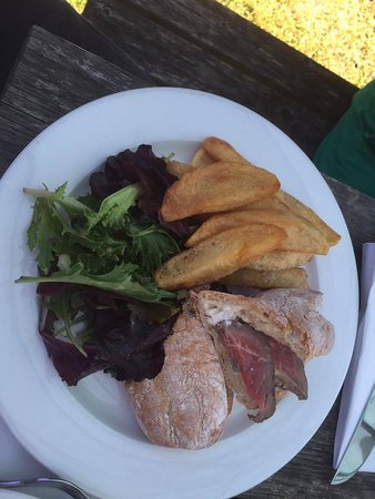 Whittlesford, UK: Roast beef sandwich with horseradish sauce