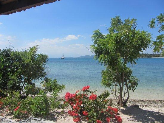 Desa Sekotong Barat, Indonesië: Blick vom Balkon