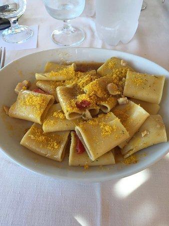 Montalto di Castro, Italy: Pasta con pesce e bottarga