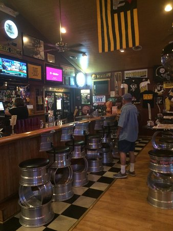 Muncy, PA: Bar with unique Stools