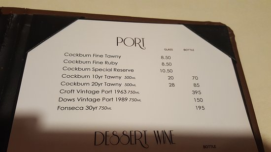 Hamden, CT: Port Menu