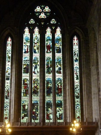 Dunblane, UK: stain glass window
