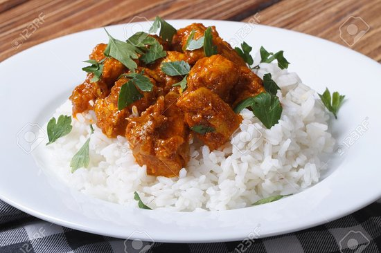 Greenford, UK: curry rice