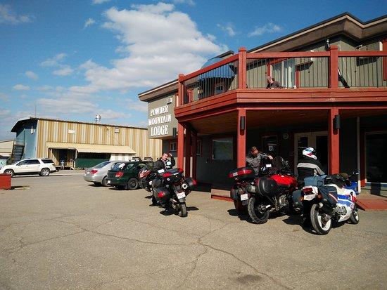 Fernie, Kanada: Just pulling in.