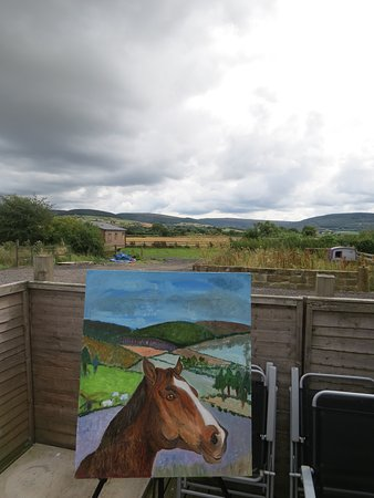 Stokesley, UK: One of the paintings I managed to do.