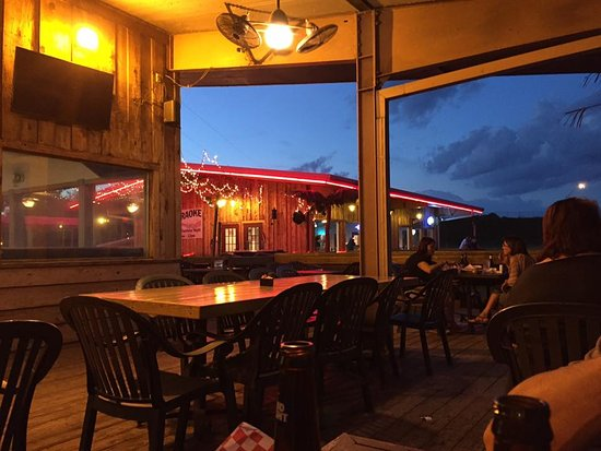 Eufaula, OK: Out back of restaurant looking toward the bar