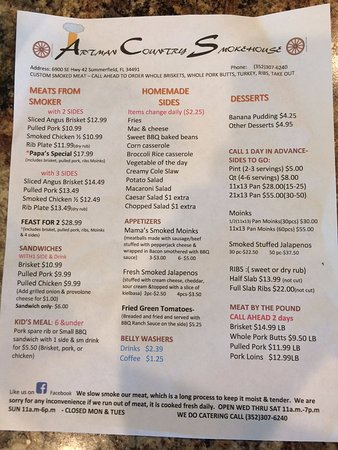 Summerfield, FL: Menu