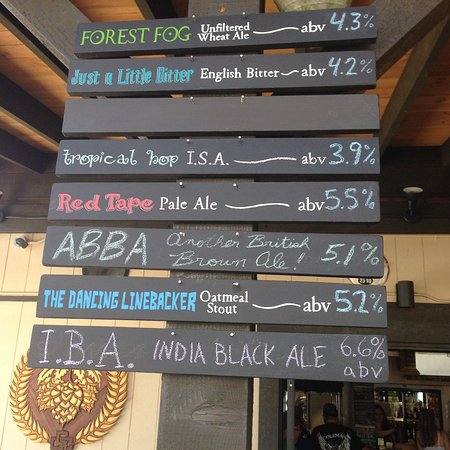 Cumberland, Canadá: Beer menu for Aug 26, 2016