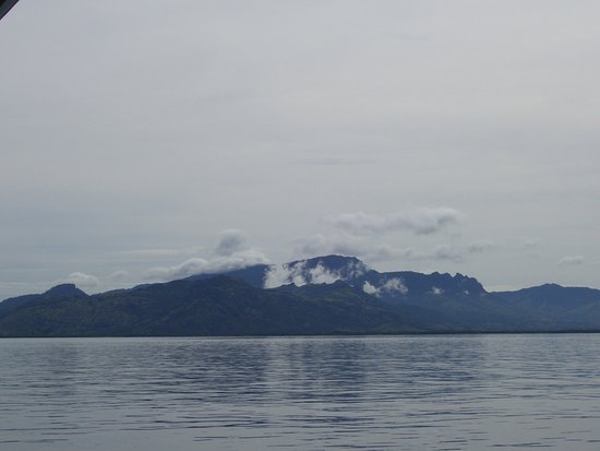 Denarau Island, Fiji: A view back towards the mainland of Fiji
